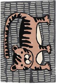 Cool Cat - Grå/Rosa Matta 120X180 Modern Mörkgrå/Ljusgrå (Ull, Indien)