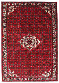 Hosseinabad Matta 215X301 Äkta Orientalisk Handknuten Mörkröd/Röd (Ull, Persien/Iran)