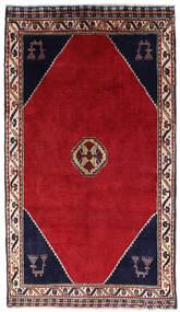 Shiraz Matta 120X205 Äkta Orientalisk Handknuten Röd/Mörkröd (Ull, Persien/Iran)