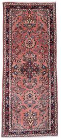 Sarough Matta 80X193 Äkta Orientalisk Handknuten Hallmatta Mörkröd/Mörkblå (Ull, Persien/Iran)