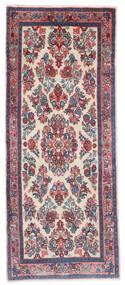 Sarough Matta 65X162 Äkta Orientalisk Handknuten Hallmatta Mörkgrå/Ljusgrå (Ull, Persien/Iran)