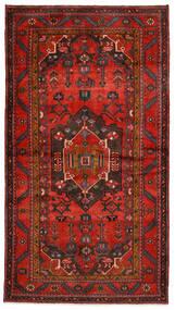 Hamadan Matta 140X254 Äkta Orientalisk Handknuten Mörkröd/Mörkbrun/Roströd (Ull, Persien/Iran)