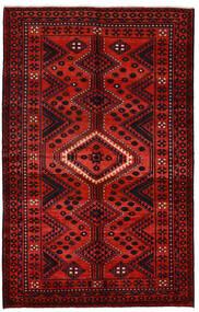 Lori Matta 163X257 Äkta Orientalisk Handknuten Mörkröd/Roströd (Ull, Persien/Iran)