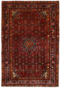 Hosseinabad Matta 164X250 Äkta Orientalisk Handknuten Mörkröd/Mörkbrun (Ull, Persien/Iran)