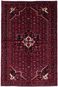 Hosseinabad Matta 162X245 Äkta Orientalisk Handknuten Mörkröd (Ull, Persien/Iran)