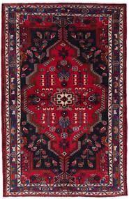 Nahavand Matta 130X201 Äkta Orientalisk Handknuten Svart/Mörkröd (Ull, Persien/Iran)