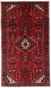 Asadabad Matta 145X252 Äkta Orientalisk Handknuten Mörkröd/Roströd (Ull, Persien/Iran)