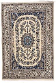 Nain Matta 166X244 Äkta Orientalisk Handknuten Ljusgrå/Beige/Mörkgrå (Ull, Persien/Iran)
