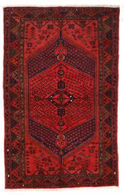 Zanjan Matta 126X205 Äkta Orientalisk Handknuten Mörkröd/Mörkbrun/Roströd (Ull, Persien/Iran)