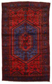 Zanjan Matta 142X230 Äkta Orientalisk Handknuten Mörkröd/Roströd (Ull, Persien/Iran)