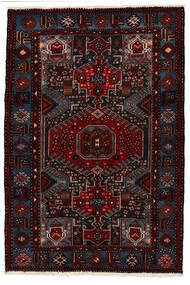 Saveh Matta 142X210 Äkta Orientalisk Handknuten Mörkröd (Ull, Persien/Iran)
