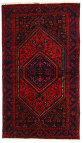 Hamadan Matta 138X240 Äkta Orientalisk Handknuten Mörkröd/Roströd (Ull, Persien/Iran)