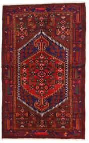 Zanjan Matta 131X213 Äkta Orientalisk Handknuten Mörkröd/Svart/Roströd (Ull, Persien/Iran)