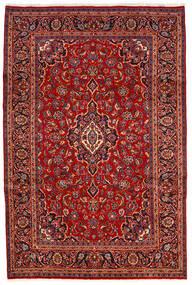 Keshan Matta 200X300 Äkta Orientalisk Handknuten Mörkröd/Roströd (Ull, Persien/Iran)