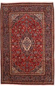 Keshan Matta 198X302 Äkta Orientalisk Handknuten Mörkröd (Ull, Persien/Iran)