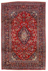 Keshan Matta 190X290 Äkta Orientalisk Handknuten Mörkröd/Mörkbrun (Ull, Persien/Iran)