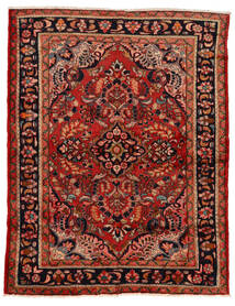 Lillian Matta 160X207 Äkta Orientalisk Handknuten Mörkröd/Roströd (Ull, Persien/Iran)