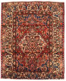 Bakhtiar Matta 174X214 Äkta Orientalisk Handknuten Mörkbrun/Mörkröd (Ull, Persien/Iran)