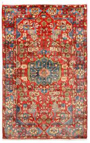 Nahavand Old Matta 155X258 Äkta Orientalisk Handknuten Mörkröd/Röd (Ull, Persien/Iran)