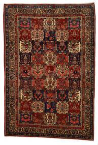 Bakhtiar Collectible Matta 217X318 Äkta Orientalisk Handknuten Mörkbrun/Mörkröd (Ull, Persien/Iran)