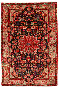 Nahavand Old Matta 155X226 Äkta Orientalisk Handknuten Roströd/Mörkröd (Ull, Persien/Iran)
