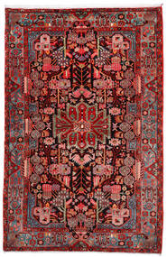 Nahavand Old Matta 160X248 Äkta Orientalisk Handknuten Mörkröd/Roströd (Ull, Persien/Iran)