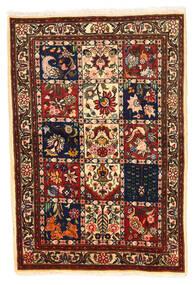 Bakhtiar Collectible Matta 100X148 Äkta Orientalisk Handknuten Svart/Mörkröd (Ull, Persien/Iran)