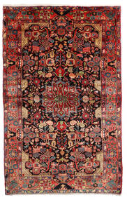 Nahavand Old Matta 155X265 Äkta Orientalisk Handknuten Mörkröd/Mörkbrun (Ull, Persien/Iran)