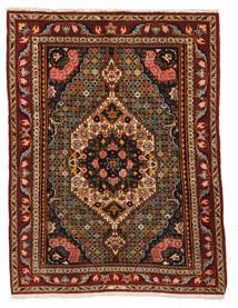 Bakhtiar Collectible Matta 105X138 Äkta Orientalisk Handknuten Mörkröd/Mörkbrun (Ull, Persien/Iran)