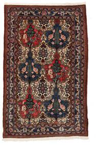 Bakhtiar Collectible Matta 97X156 Äkta Orientalisk Handknuten Mörkröd/Brun (Ull, Persien/Iran)