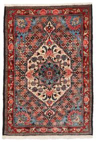 Bakhtiar Collectible Matta 108X157 Äkta Orientalisk Handknuten Mörkbrun/Mörkröd (Ull, Persien/Iran)