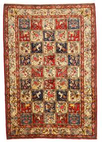 Bakhtiar Collectible Matta 216X316 Äkta Orientalisk Handknuten Mörkbrun/Mörkröd (Ull, Persien/Iran)