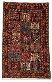 Bakhtiar Collectible Matta 100X161 Äkta Orientalisk Handknuten Mörkröd/Mörkbrun (Ull, Persien/Iran)