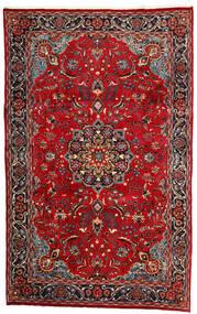 Mashad Matta 190X308 Äkta Orientalisk Handknuten Mörkröd/Mörkbrun (Ull, Persien/Iran)