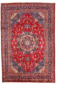 Mashad Matta 198X294 Äkta Orientalisk Handknuten Mörkröd/Röd (Ull, Persien/Iran)