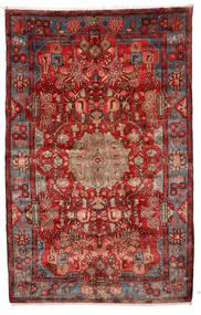 Nahavand Old Matta 155X250 Äkta Orientalisk Handknuten Mörkröd/Roströd/Mörkgrå (Ull, Persien/Iran)