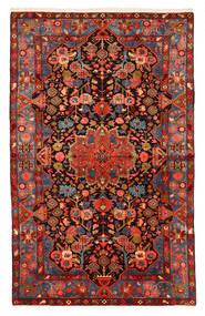Nahavand Old Matta 150X240 Äkta Orientalisk Handknuten Mörkröd/Svart (Ull, Persien/Iran)