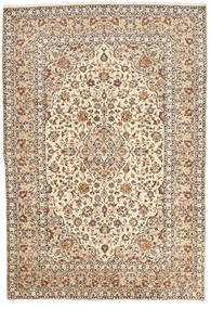 Keshan Matta 200X295 Äkta Orientalisk Handknuten Beige/Mörkbrun (Ull, Persien/Iran)