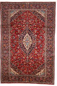 Keshan Matta 200X303 Äkta Orientalisk Handknuten Mörkröd/Brun (Ull, Persien/Iran)