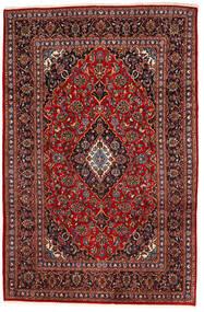Keshan Matta 195X294 Äkta Orientalisk Handknuten Mörkröd/Svart (Ull, Persien/Iran)