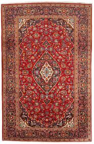Keshan Matta 200X309 Äkta Orientalisk Handknuten Mörkröd/Roströd (Ull, Persien/Iran)