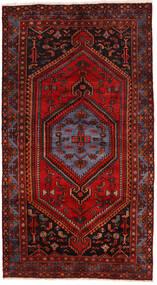 Zanjan Matta 137X250 Äkta Orientalisk Handknuten Mörkröd/Mörkbrun/Roströd (Ull, Persien/Iran)