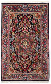 Kerman Matta 90X149 Äkta Orientalisk Handknuten Mörkgrå/Mörkblå (Ull, Persien/Iran)