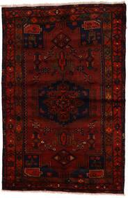 Zanjan Matta 137X212 Äkta Orientalisk Handknuten Mörkbrun/Mörkröd (Ull, Persien/Iran)