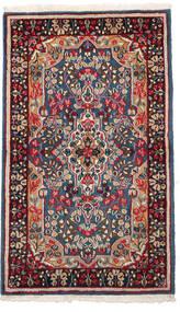 Kerman Matta 89X155 Äkta Orientalisk Handknuten Mörkgrå/Mörkröd (Ull, Persien/Iran)
