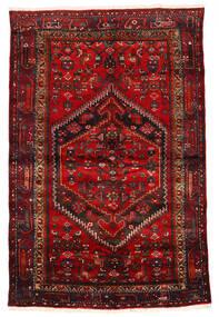 Zanjan Matta 133X203 Äkta Orientalisk Handknuten Mörkröd/Mörkbrun/Roströd (Ull, Persien/Iran)