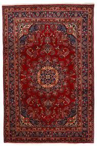 Mashad Matta 192X294 Äkta Orientalisk Handknuten Mörkröd/Röd (Ull, Persien/Iran)