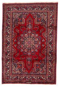 Mashad Matta 200X294 Äkta Orientalisk Handknuten Mörkröd/Mörkblå (Ull, Persien/Iran)