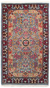 Kerman Matta 90X155 Äkta Orientalisk Handknuten Mörkröd/Ljusgrå (Ull, Persien/Iran)