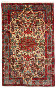 Nahavand Old Matta 155X247 Äkta Orientalisk Handknuten Mörkröd/Mörkbrun (Ull, Persien/Iran)